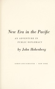 Cover of: New era in the Pacific | John Hohenberg