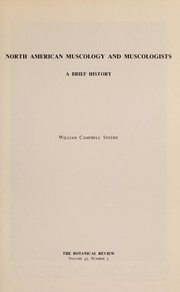 Cover of: North American muscology and muscologists | William Campbell Steere