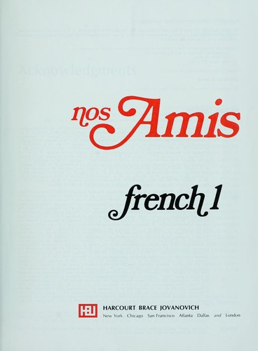 nos Amis French 1 by
