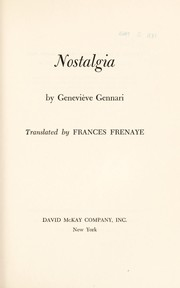Cover of: Nostalgia