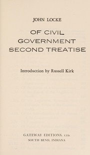 Cover of: Of civil government | John Locke