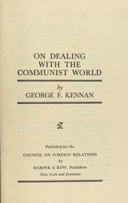 Cover of: On dealing with the Communist world