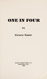 Cover of: One in four | Victoria Kepler