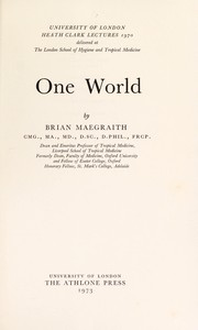 Cover of: One world