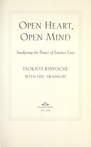 Cover of: Open heart, open mind | Tsoknyi Rinpoche