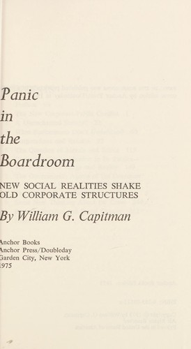 Panic in the Boardroom by