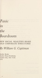 Cover of: Panic in the Boardroom |