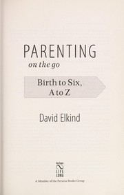 Cover of: Parenting on the go