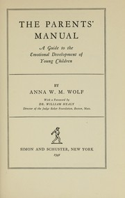 Cover of: The parents' manual