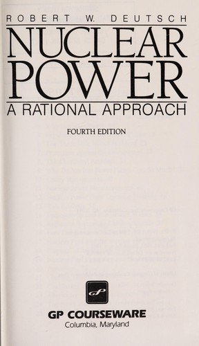 Nuclear power by Robert W. Deutsch