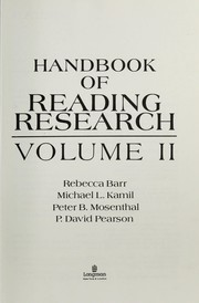 Cover of: Handbook of Reading Research, Volume 4 | Michael L. Kamil