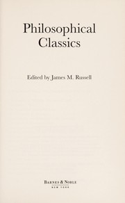 Cover of: Philosophical classics | James M. Russell