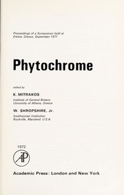 Cover of: Phytochrome |