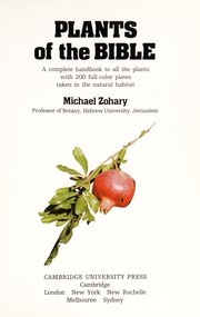 Cover of: Plants of the Bible | Michael Zohary