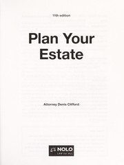 Cover of: Plan your estate | Denis Clifford