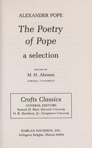 Cover of: The poetry of Pope | Alexander Pope