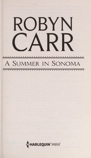 Cover of: A summer in Sonoma