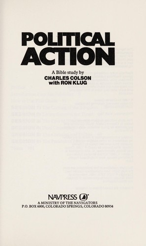 Political Action (Influencer Discussion Guides) by Charles Colson