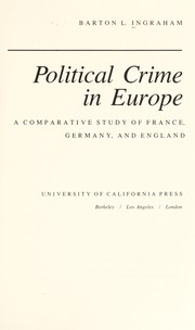 Cover of: Political crime in Europe
