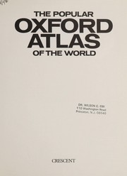Cover of: The Popular Oxford atlas of the world |