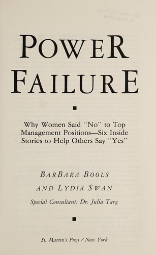 Power failure by Barbara Bools