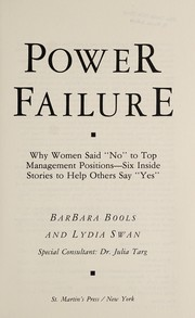 Cover of: Power failure | Barbara Bools