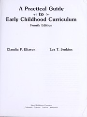 Cover of: A practical guide to early childhood curriculum
