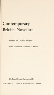 Cover of: Contemporary British novelists