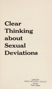 Clear thinking about sexual deviations
