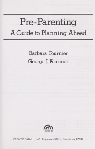 Pre-parenting by Barbara Fournier