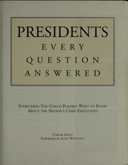 Cover of: Presidents |