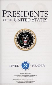 Cover of: Presidents of the United States | Kathryn Knight