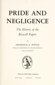 Cover of: Pride and negligence | Frederick Albert Pottle