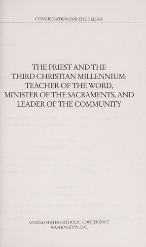 The Priest and the Third Christian Millennium by
