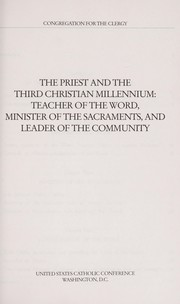Cover of: The Priest and the Third Christian Millennium |