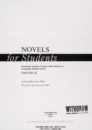 Cover of: Novels for Students |