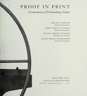 Cover of: Proof in Print |