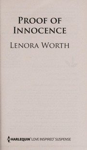 Cover of: Proof of innocence | Lenora Worth