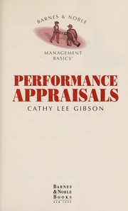 Cover of: Performance Appraisals | Cathy Lee Gibson