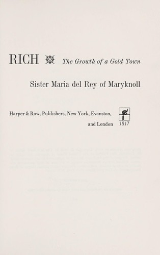 Prospero strikes it rich by Maria del Rey Sister.