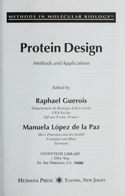 Cover of: Protein design |