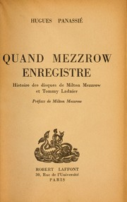 Cover of: Quand Mezzrow enregistre