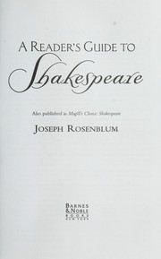Cover of: A reader's guide to Shakespeare