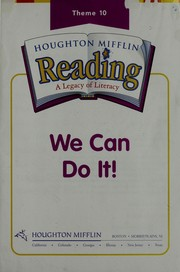 Cover of: Houghton Mifflin Reading Phonics Library Book: Theme 10 (Houghton Mifflin Reading: a Legacy of Literacy) |