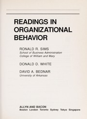Cover of: Readings in organizational behavior