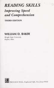 Cover of: Reading skills | William D. Baker