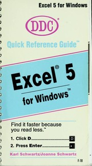 Cover of: Excel 5 for Windows by Schwartz, Karl.