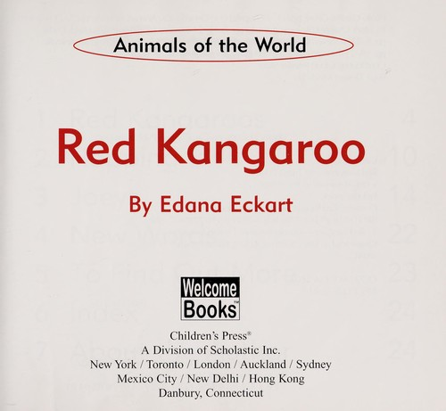Red Kangaroo by Edana Eckart