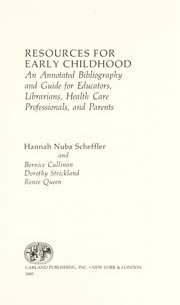 Cover of: Resources for early childhood | Hannah Nuba