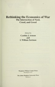 Cover of: Rethinking the economics of war |